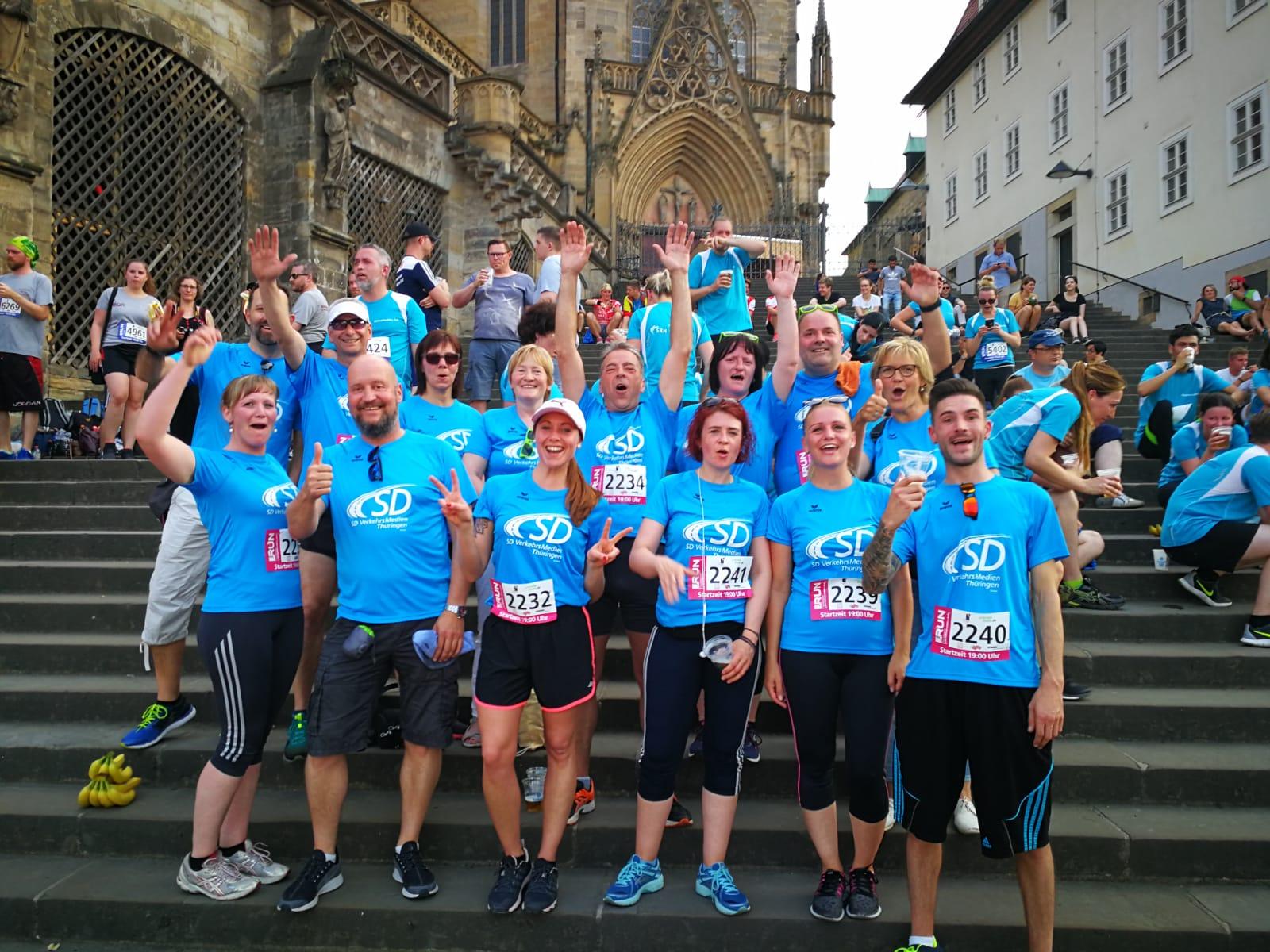 Das Team der SD Gruppe beim RUN Firmenlauf