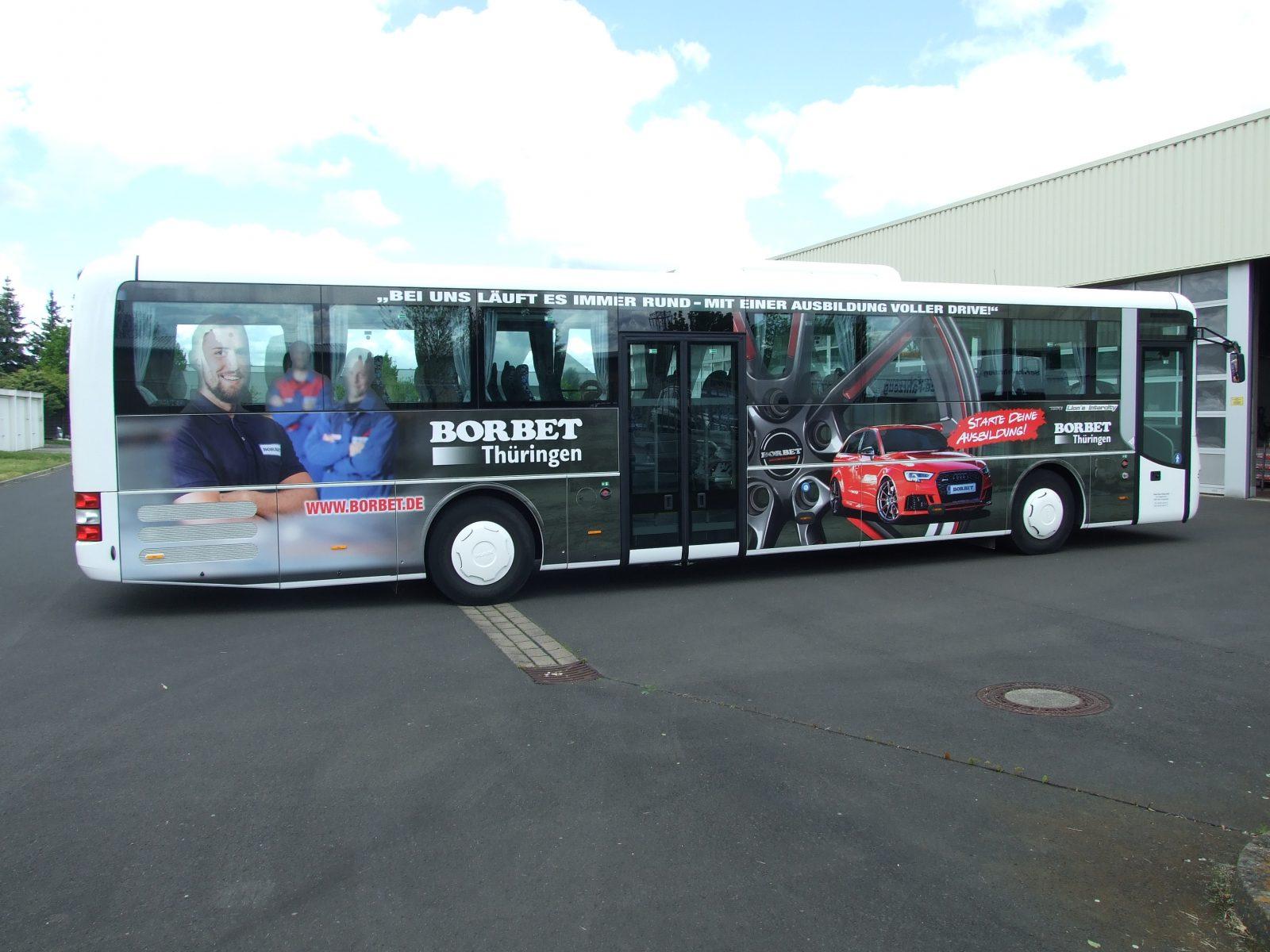 Buswerbung zur Azubi-Gewinnung