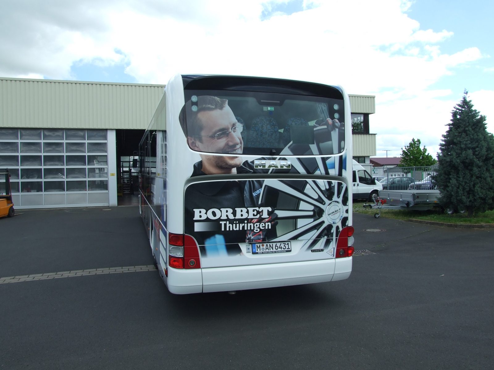 Buswerbung für Borbet Thüringen