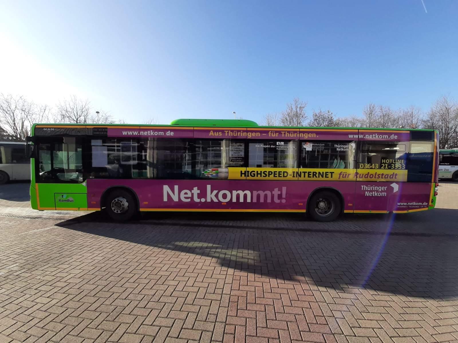Buswerbung in Thüringen - Netkomm