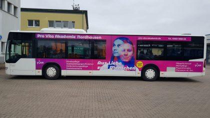 Buswerbung zur Ausbildungswerbung