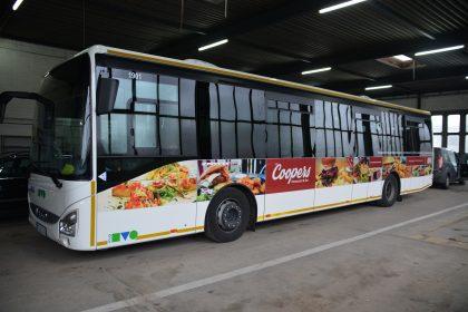 Buswerbung für ein Burger Restaurant
