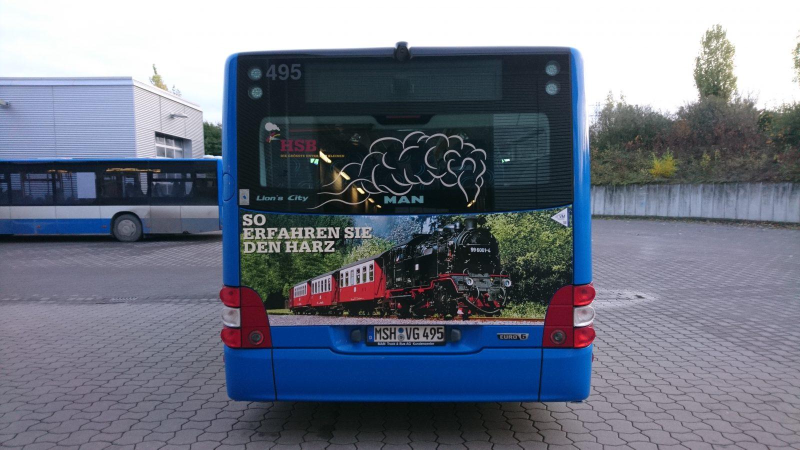 Buswerbung in Thüringen - Harzer Schmalspurbahn