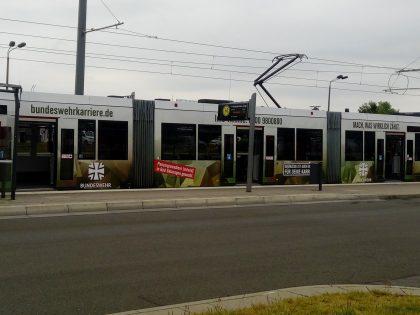 Bahnwerbung in Erfurt