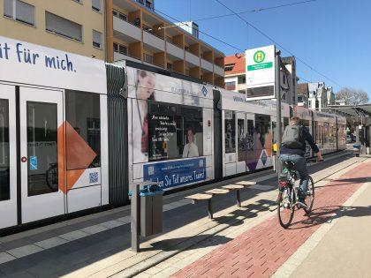 Bahnwerbung zur Personalgewinnung - Beispiel Klinikum Augsburg