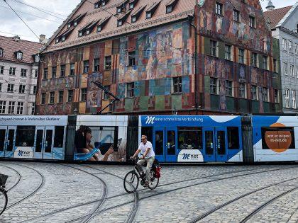 Straßenbahnwerbung für M-net
