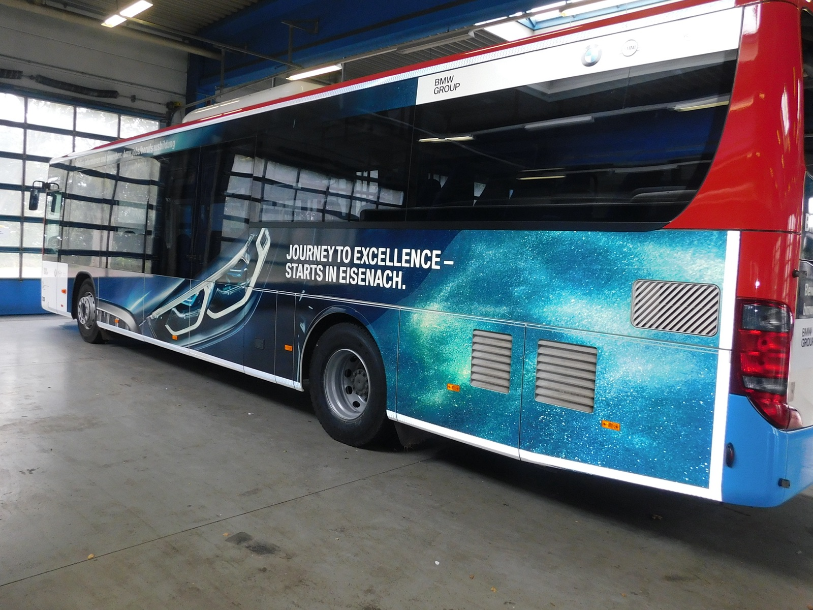 Buswerbung zur Personalgewinnung - Beispiel BMW Eisenach