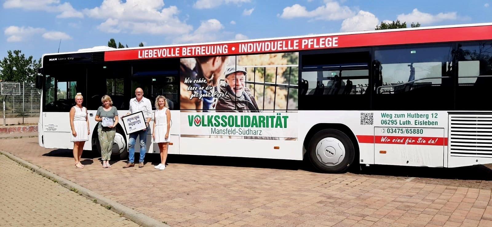 Buswerbung Volkssolidarität